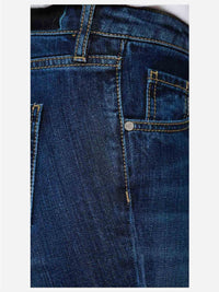 Women - Cropped Flare Jean - Deep Blue - Japanese denim - detail side image - one denim