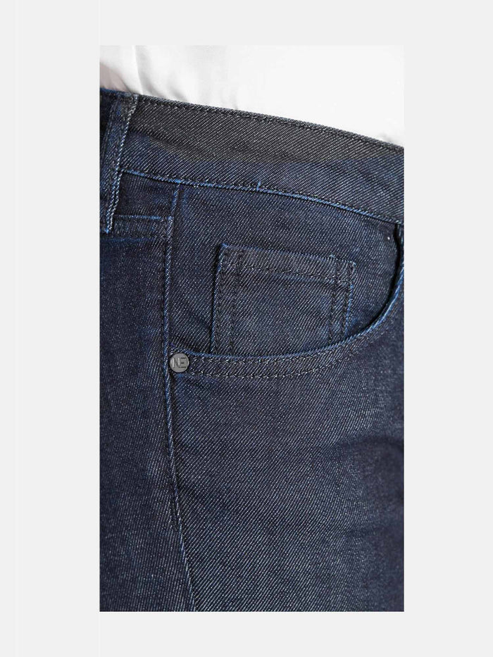 Women -  Flare Jean - Japanese Denim - side detail image - one denim