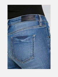 Women - Light Blue Flare Jean - Japanese Denim - detail back image - one denim