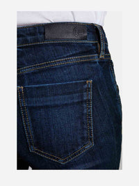 Women - Deep Blue Flare Jean - Japanese Denim - detail back image - one denim