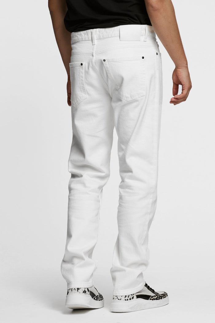 Men - White Oversized Jean - Italian Organic Denim - back image - one denim