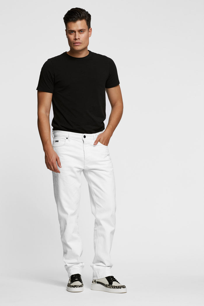 Men - White Oversized Jean - Italian Organic Denim - front 2 image - one denim