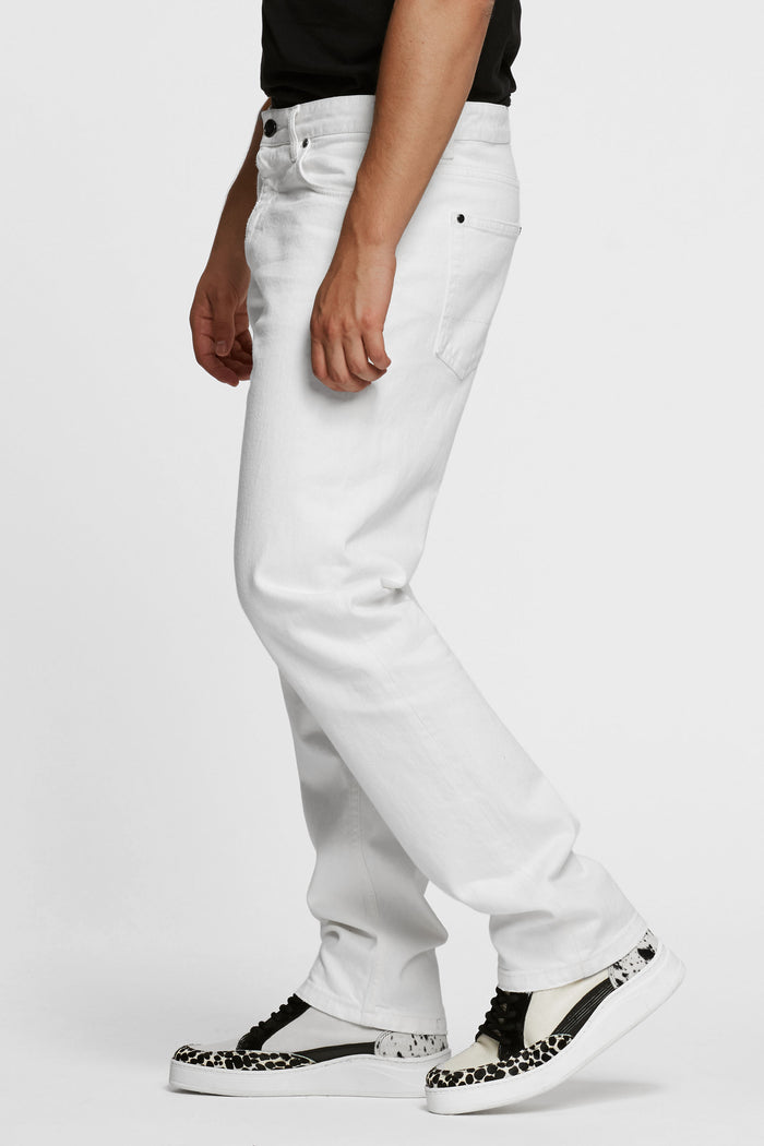 Men - White Oversized Jean - Italian Organic Denim - side image - one denim
