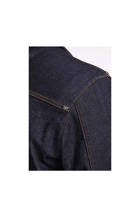 Men - Relaxed Fit Denim Jacket - Raw Italian Denim - detail image - one denim