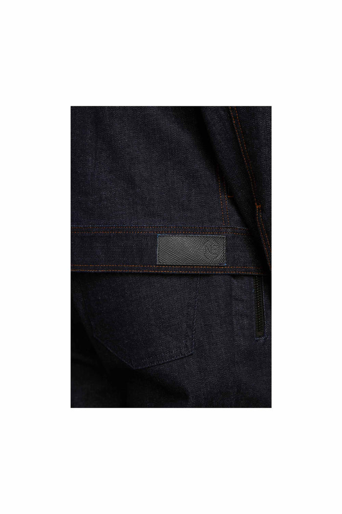 Men - Relaxed Fit Denim Jacket - Raw Italian Denim - detail 3 image - one denim
