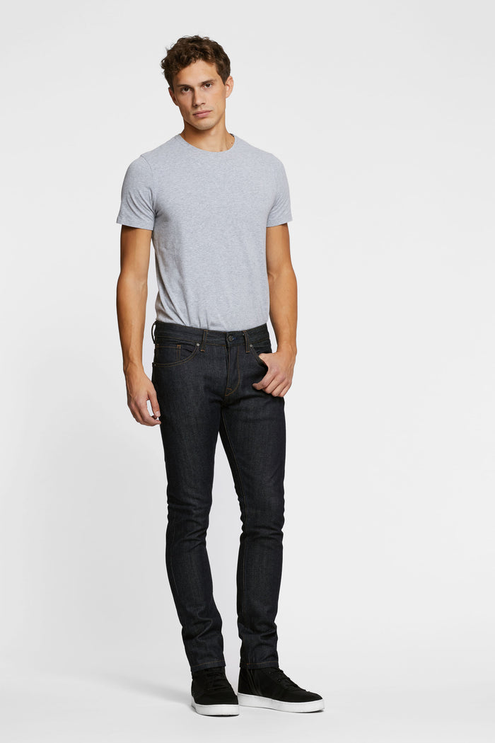 Men - Slim Fit Jean - Japanese Selvedge Denim - front image - one denim