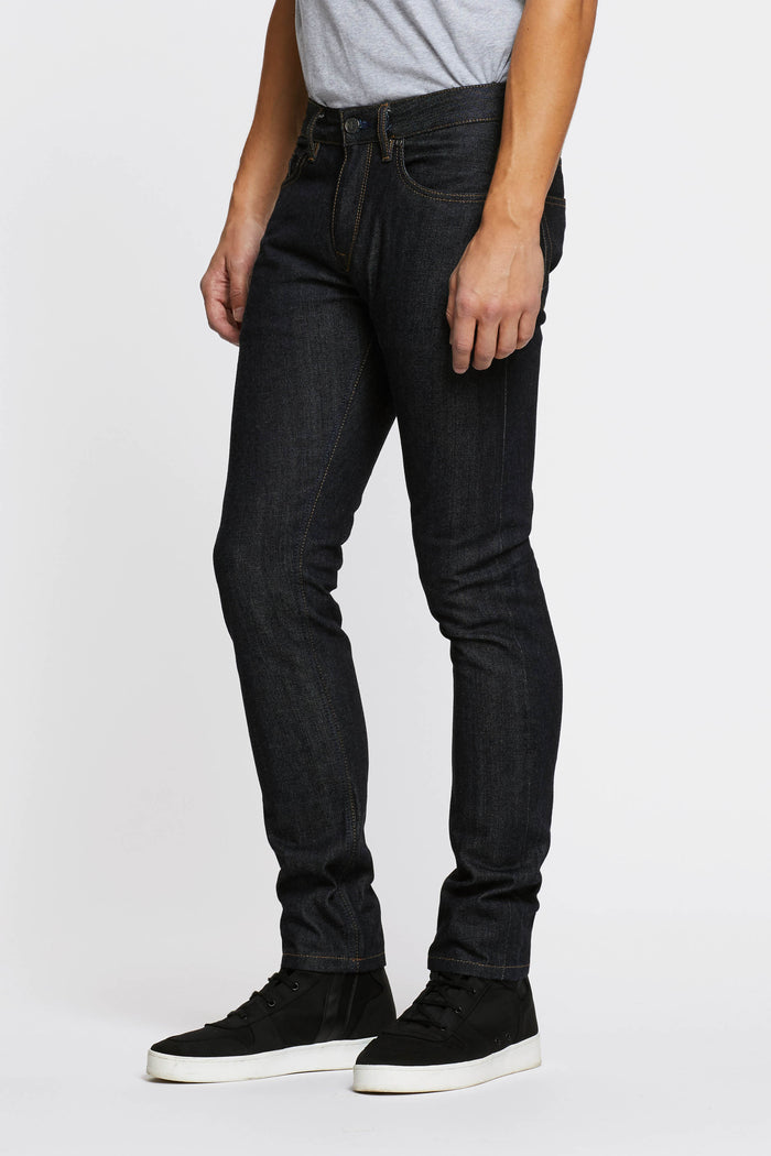 Men - Slim Fit Jean - Japanese Selvedge Denim - side image - one denim