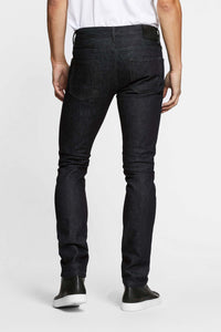 Men - Slim Fit Jean - Selvedge Denim - Italian Raw - back image - one denim