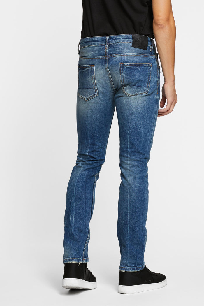 Men - Slim Fit Jean - Selvedge Denim - back image - one denim