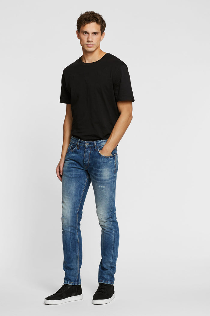 Men - Slim Fit Jean - Selvedge Denim - front image - one denim