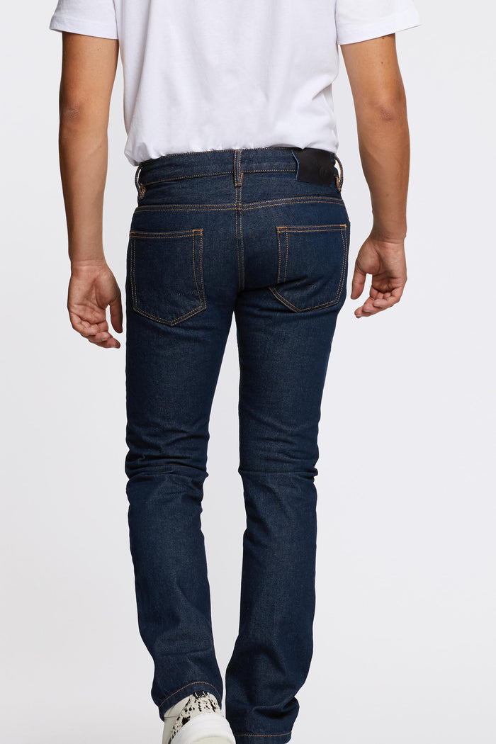 Men - Slim Fit Jean - Japanese Selvedge Denim - back image - one denim