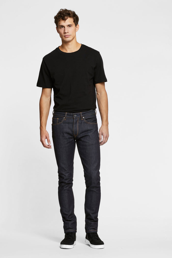 Men - Slim Fit Jean - Japanese Selvedge Denim - front 2 image - one denim