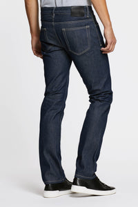Men - Straight Fit Jean - Raw Japanese Selvedge Denim - back image - one denim
