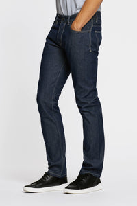 Men - Straight Fit Jean - Raw Japanese Selvedge Denim - side image - one denim