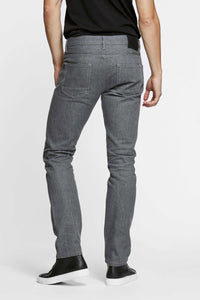 Men - Straight Fit Grey Jean - Raw Japanese Selvedge Denim - back image - one denim