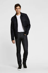 Men - Slim Fit Jean - Selvedge Denim - Italian Raw - front image - one denim