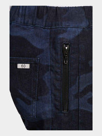 Men - Denim Cargo pant - Laser Military - Italian Recycled Denim - detail image - one denim