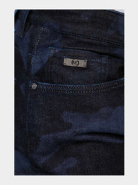 Men - Slim Fit Zip Jean - Laser Military - Italian Recycled Denim - detail image - one denim