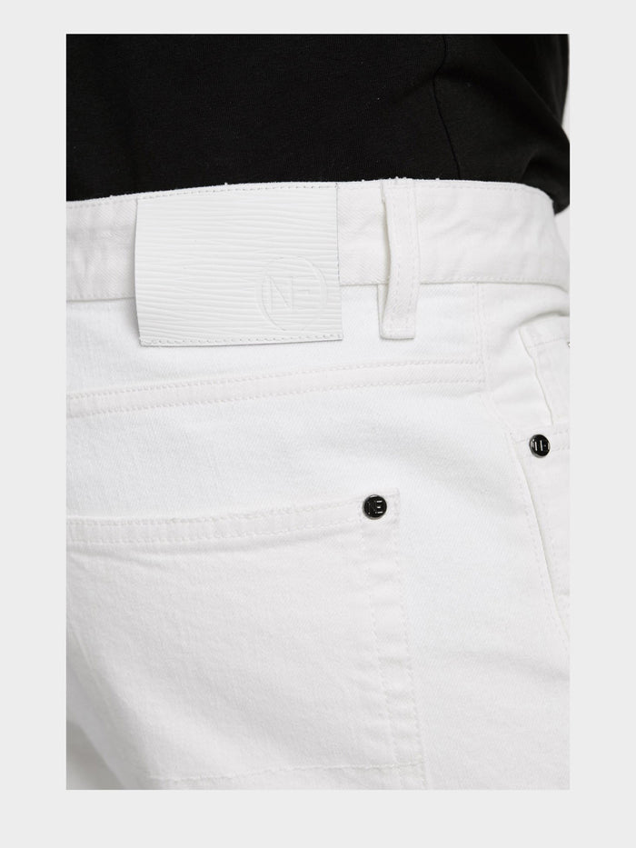 Men - White Oversized Jean - Italian Organic Denim - detail image - one denim