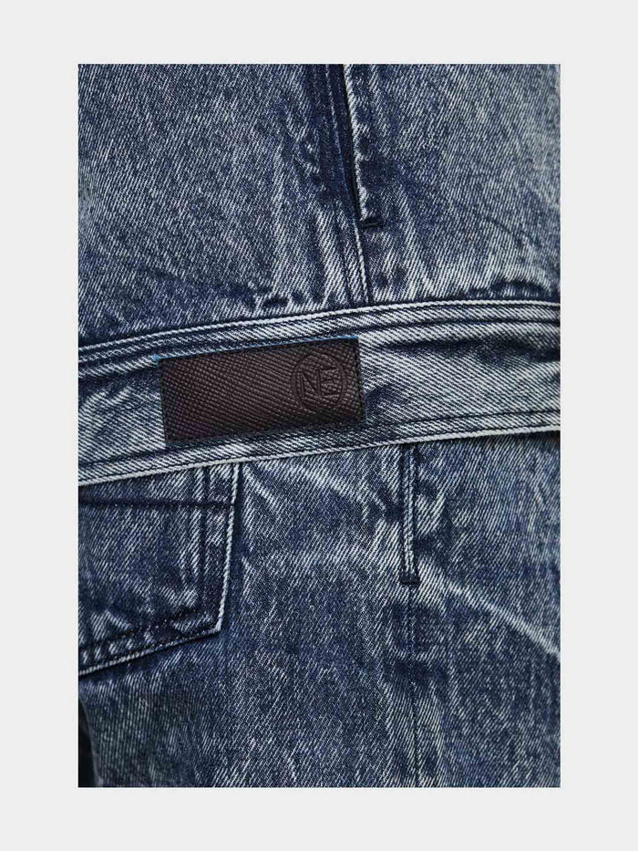 Men - Relaxed Fit  Denim Jacket - Italian Organic Denim - detail 2 image - one denim