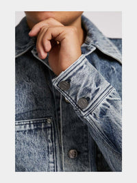 Men - Relaxed Fit  Denim Jacket - Italian Organic Denim - detail image - one denim