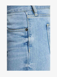 Women - Skinny Cigarette Jean - Light - Japanese Selvedge Denim - detail side image - one denim