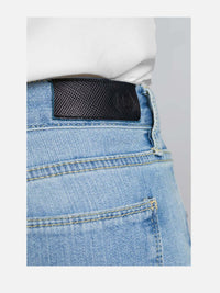 Women - Skinny Cigarette Jean - Light - Japanese Selvedge Denim - detail back image - one denim