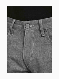 Men - Straight Fit Grey Jean - Raw Japanese Selvedge Denim - detail front image - one denim