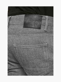 Men - Straight Fit Grey Jean - Raw Japanese Selvedge Denim - detail back image - one denim