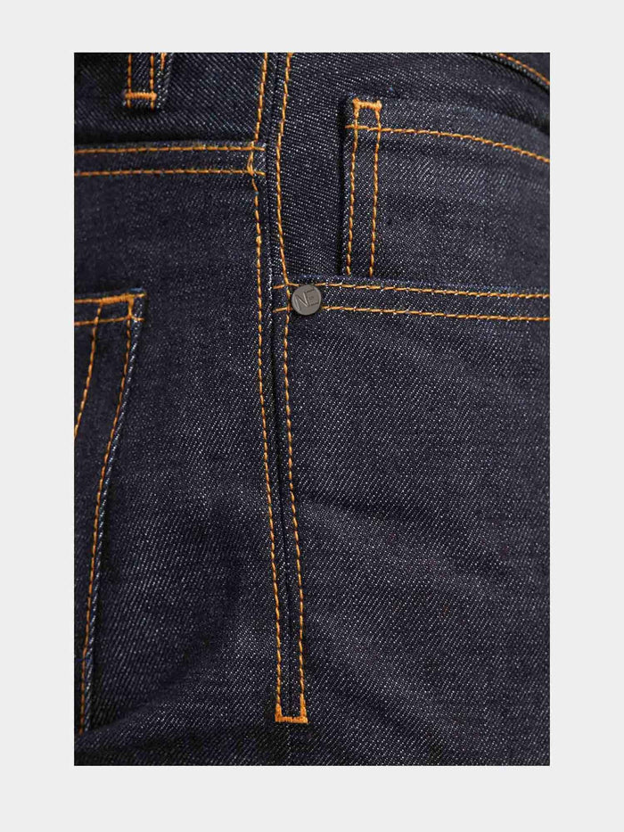 Men - Slim Fit Jean - Japanese Selvedge Denim - detail side image - one denim