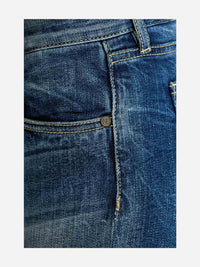 Women - Slim Boyfriend Jean - Light - Japanese Selvedge Denim - detail side image - one denim
