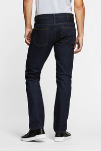 Men - Straight Fit Jean - Japanese Selvedge Denim - back image - one denim