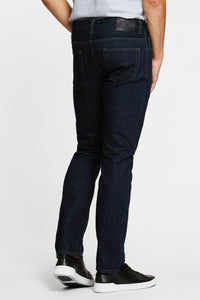 Men - Straight Fit Jean - Italian Selvedge Denim - back image - one denim