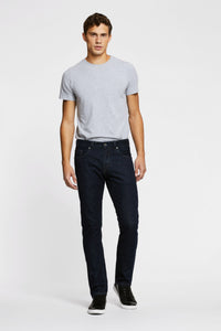 Men - Straight Fit Jean - Italian Selvedge Denim - front 3 image - one denim