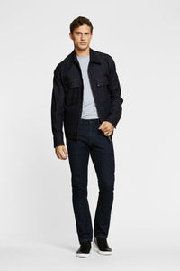 Men - Straight Fit Jean - Italian Selvedge Denim - front image - one denim