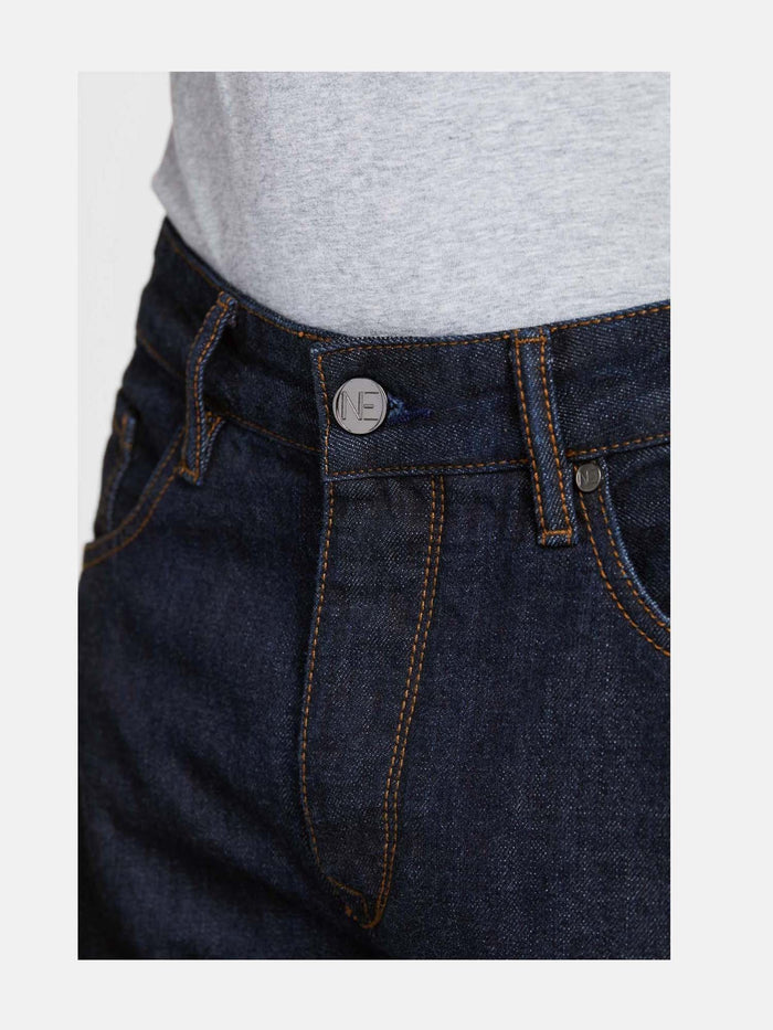 Men - Straight Fit Jean - Japanese Selvedge Denim - detail front image - one denim