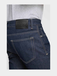 Men - Straight Fit Jean - Raw Japanese Selvedge Denim - detail back image - one denim