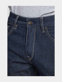 Men - Straight Fit Jean - Raw Japanese Selvedge Denim - detail front image - one denim