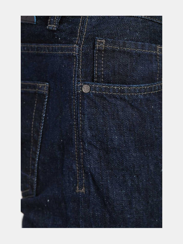 Men - Straight Fit Jean - Italian Selvedge Denim - detail side image - one denim