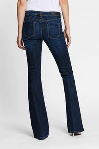 Women - Deep Blue Flare Jean - Japanese Denim - back image - one denim