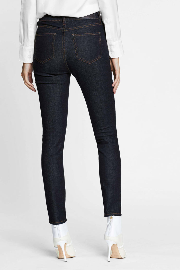 Women - Raw Skinny Jean - Raw Italian Denim - back image - one denim