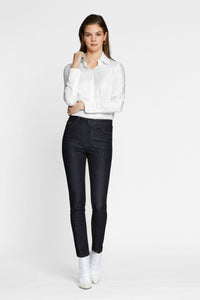 Women - Raw Skinny Jean - Raw Italian Denim - front image - one denim