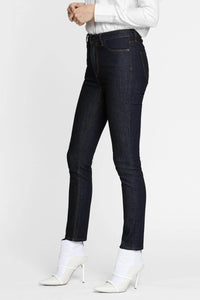 Women - Raw Skinny Jean - Raw Italian Denim - side image - one denim