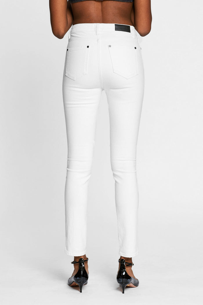 Women - White Skinny Jean - Italian Organic Denim - back image - one denim