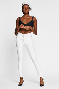 Women - White Skinny Jean - Italian Organic Denim - front image - one denim