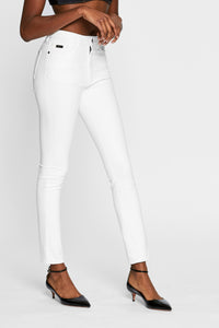 Women - White Skinny Jean - Italian Organic Denim - side image - one denim