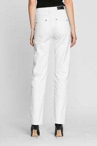 Women - White Straight Jean - Italian Organic Denim - back image - one denim