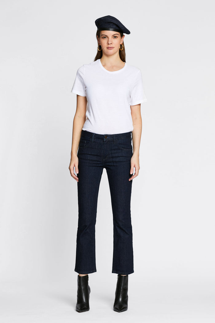 Women - Cropped Flare Jean - Japanese Denim - front 2 image - one denim