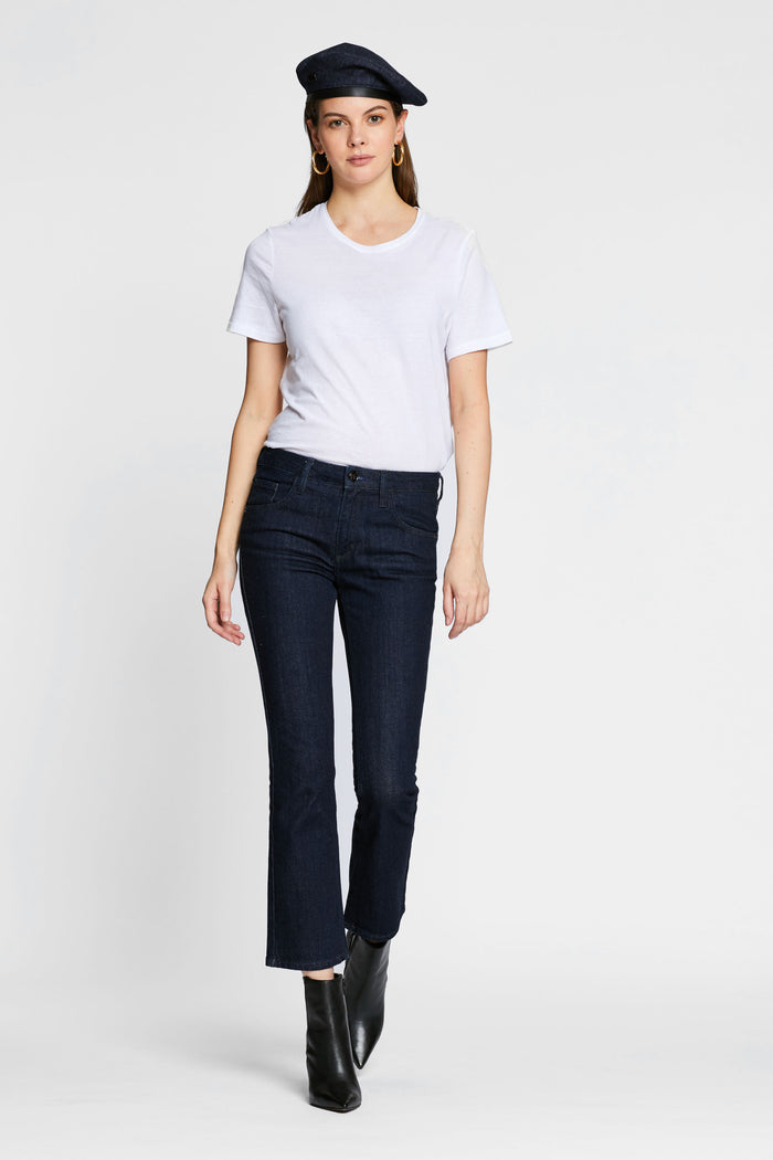 Women - Cropped Flare Jean - Japanese Denim - front image - one denim