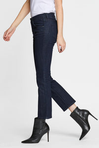 Women - Cropped Flare Fit - Japanese Denim - side image - one denim